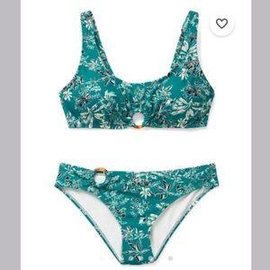 Turquoise NWT bikini set floral